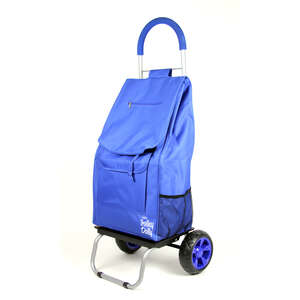 dbest Products  Trolley Dolly  Collapsible Blue  Collapsible Trolley Cart  110 lb. Folding