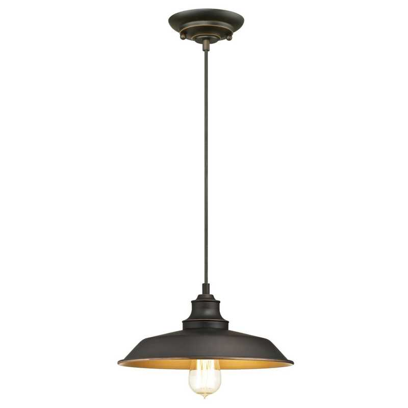 Westinghouse  Oil Rubbed Bronze  1 lights Pendant Light  Iron Hill
