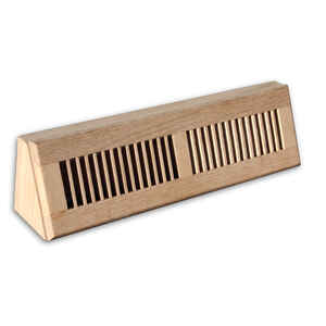 Tru Aire  4 in. H x 18 in. W 2-Way  Oak  Brown  Wood  Baseboard Diffuser