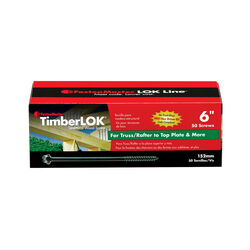 FastenMaster  TimberLOK  No. 10   x 6 in. L Hex  Epoxy  Wood Screws  50 pk