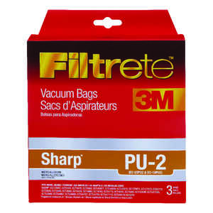 Filtrete  Vacuum Bags Micro Allergen Style PU2 Fits Sharp Bagged 3 / Pack Upright