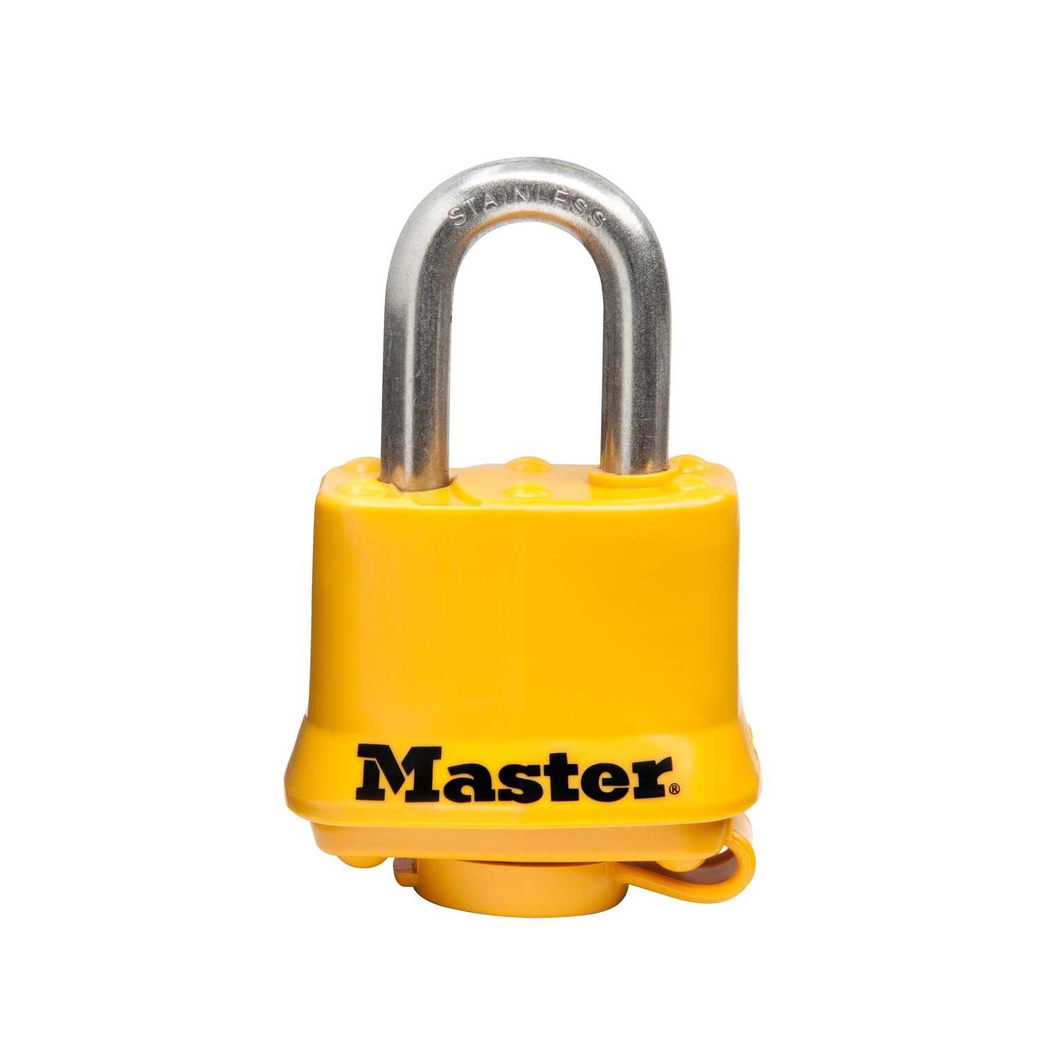 Master Lock  1.5 in. W Steel  4-Pin Tumbler  Laminated Padlock  1 each Keyed Alike