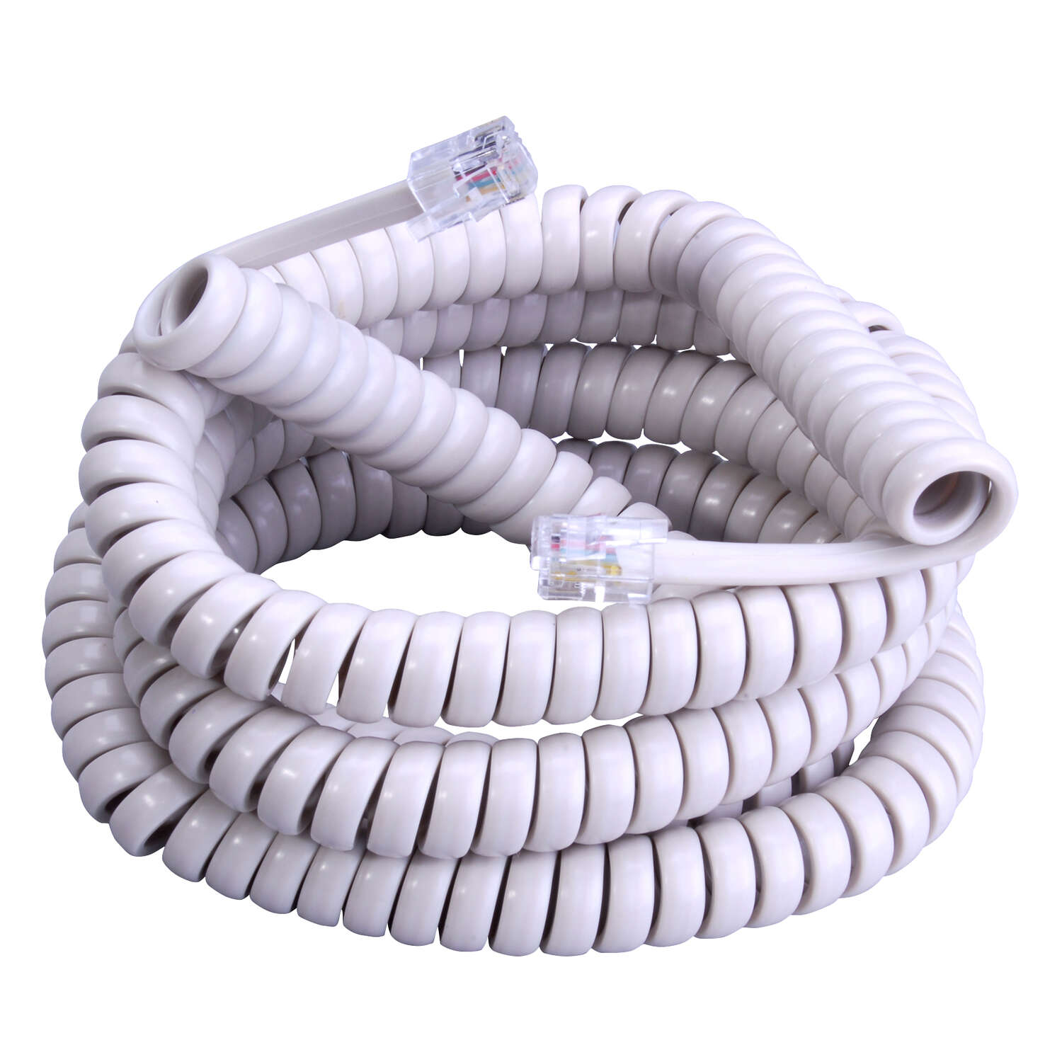 Monster Cable  12 ft. L Almond  Telephone Handset Coil Cord