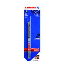 Lenox 5 -1/4 in. Bi-Metal U-Shank Wood, Metal, and Plastic Jig Saw Blade 10 TPI 2 pk