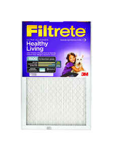 3M  Filtrete  16 in. W x 25 in. H x 1 in. D Air Filter  Pleated