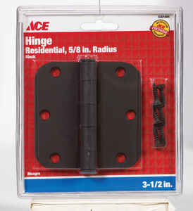Ace  3-1/2 in. L Black  Steel  Residential Door Hinge  1 pk
