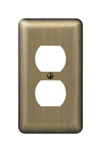 Amerelle  Devon  1 gang Stamped Steel  Wall Plate  1 pk Duplex Outlet