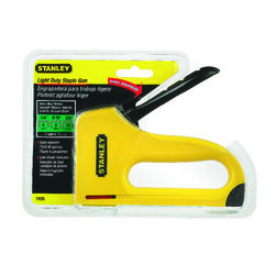 Stanley  Light Duty  Narrow  Staple Gun  Yellow