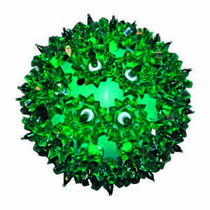 Holiday Bright Lights  LED  Battery Operated  Sphere Light  Green  50 lights