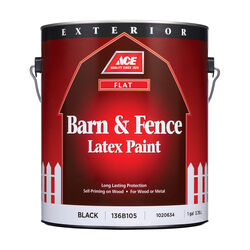 Ace Flat Black Barn and Fence Paint Exterior 1 gal.