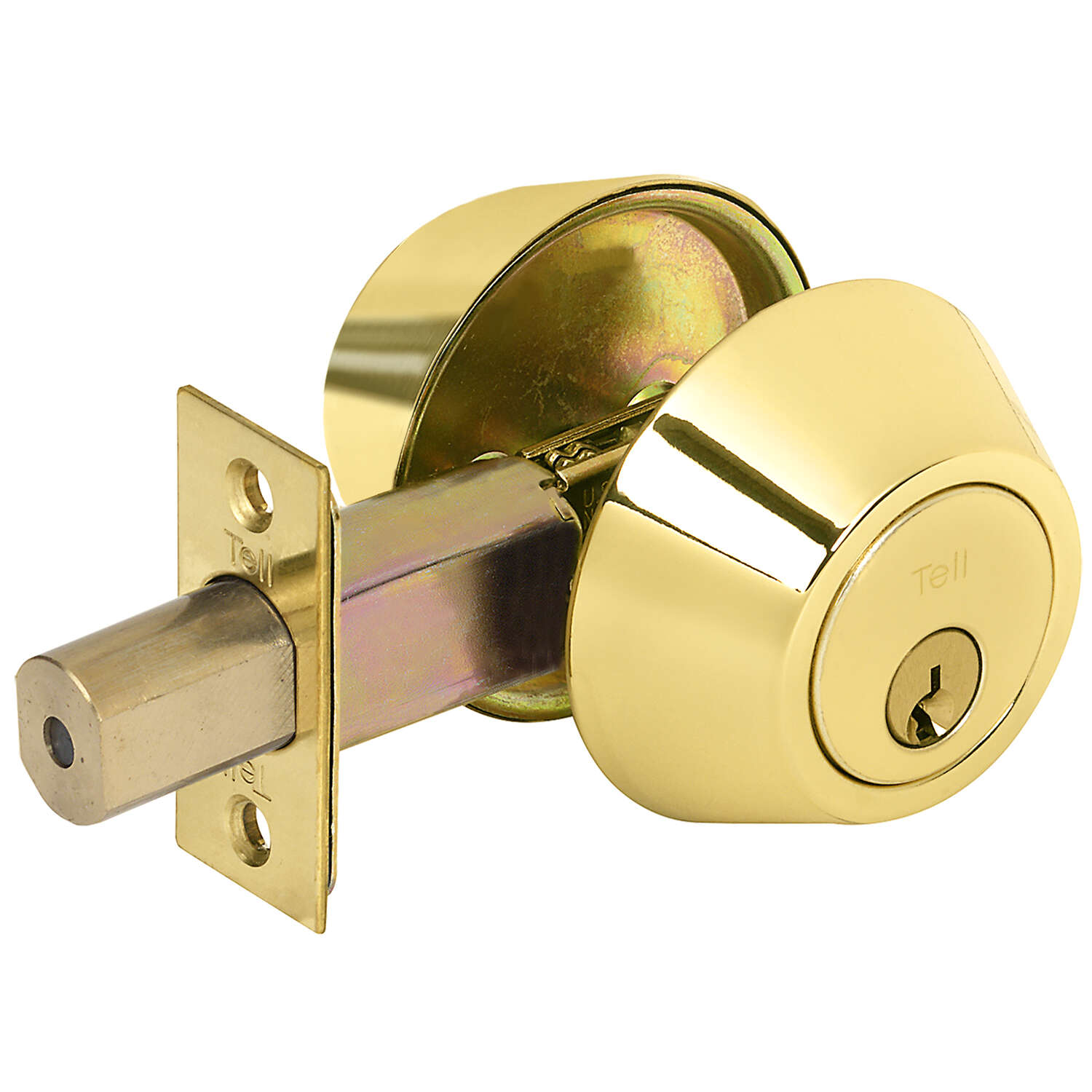 Tell  Bright Brass  Metal  Deadbolt