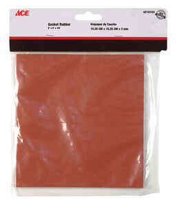 Ace  6 in. Dia. x 6 in. L Rubber  Gasket Sheet