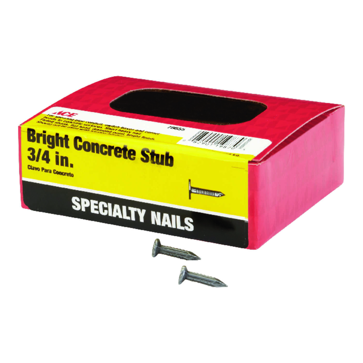 Ace  3/4 in. L Concrete  Nail  Flat  Fluted  1  1 lb.