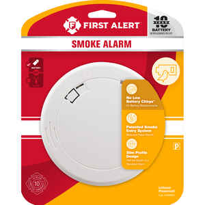 First Alert  Battery-Powered  Photoelectric  Smoke Detector