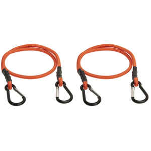 Keeper  Orange  Carabiner Style Bungee Cord  36 in. L x 0.315 in.  1 pk