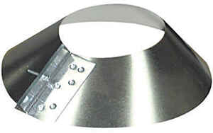 Imperial Manufacturing  8 in. Dia. 30 Ga. Galvanized Steel  Storm Collar