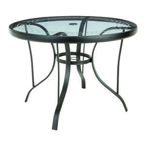 Living Accents  Black  Brighton  Dining Table  Round