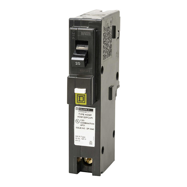 Square D Homeline 20 Amps Arc Fault Single Pole Circuit Breaker Interrupters Afcis