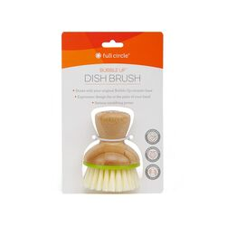 Full Circle Bubble Up 2.36 in. W Bamboo Dish Brush