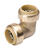 BK Products  ProLine  3/4 in. Push   x 3/4 in. Dia. Push  Brass  90 Degree Elbow