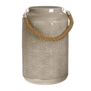 Paradise Lighting  LED  Metal  Lantern  Beige