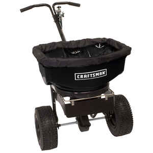 Craftsman  Push  Spreader  For Ice Melt 80 lb.
