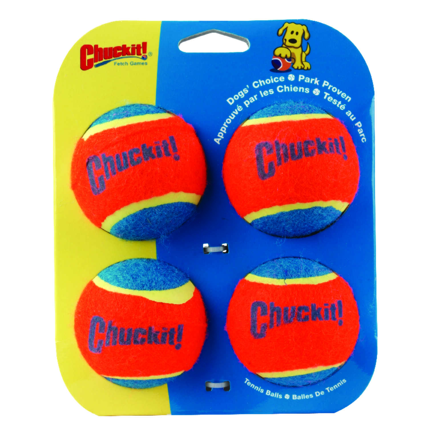 Chuckit!  Multicolored  Rubber  Tennis Balls  Medium  Ball Launcher Tennis Balls