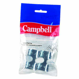 Campbell  1/2 in. Dia. Rope Clamps  Nickel  Silver