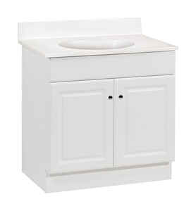 Continental Cabinets Single Bright White Vanity Combo 32 In H X 30 W