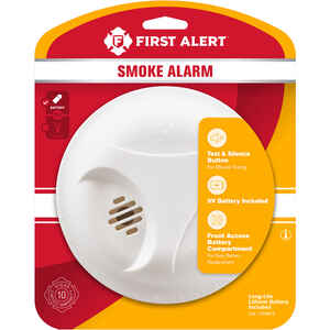 First Alert  Battery-Powered  Ionization  Smoke Detector