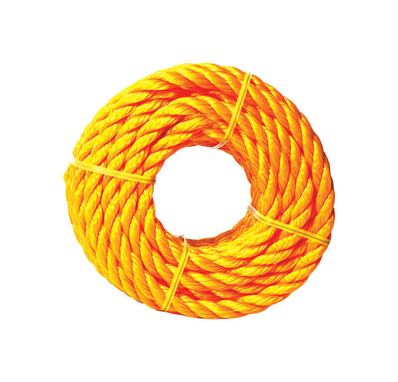 Ace  1/2 in. Dia. x 50 ft. L Yellow  Twisted  Poly  Rope