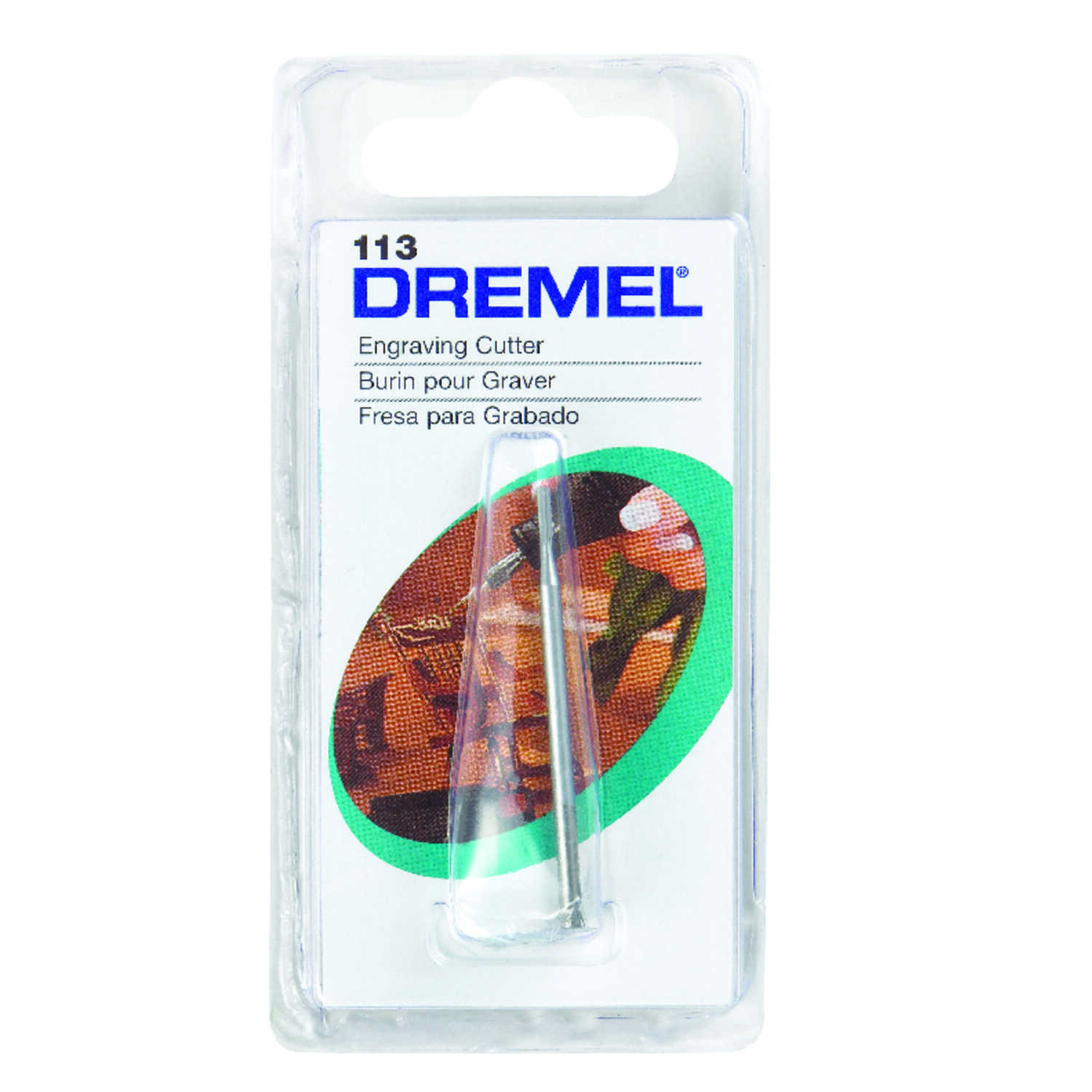 Dremel  1/8 in. Dia. High Speed Steel  Engraving Cutter  1 pk
