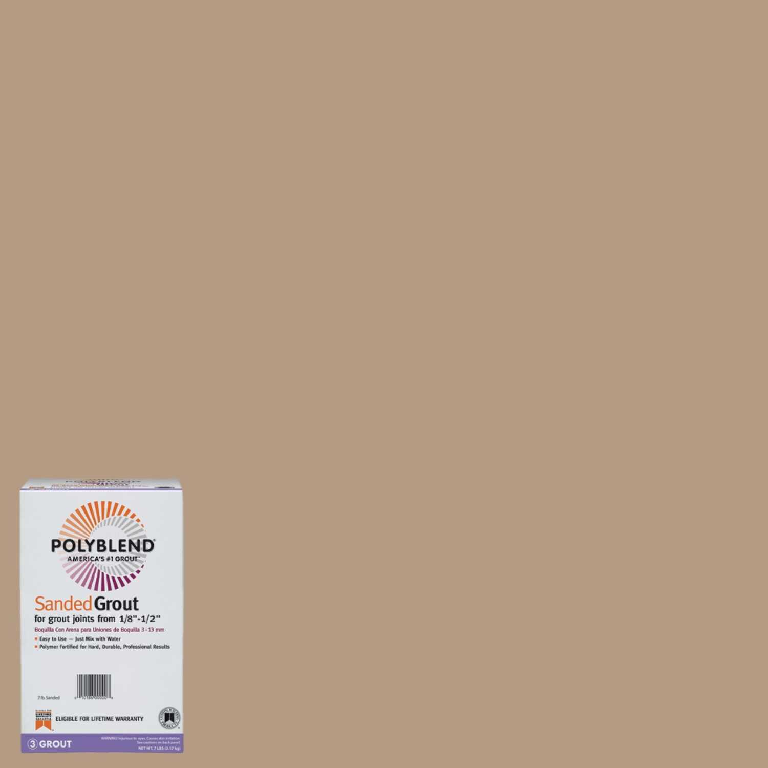 Custom Building Products  Polyblend  Indoor and Outdoor  Sandstone  Grout  7 lb.