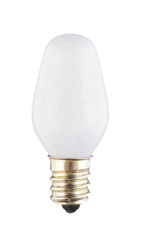 Westinghouse  4 watts C7  Speciality  Incandescent Bulb  E12 (Candelabra)  White  2 pk