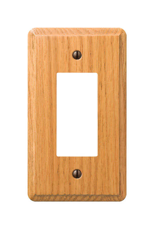 Amerelle  Contemporary  1 gang Wood  Wall Plate  1 pk