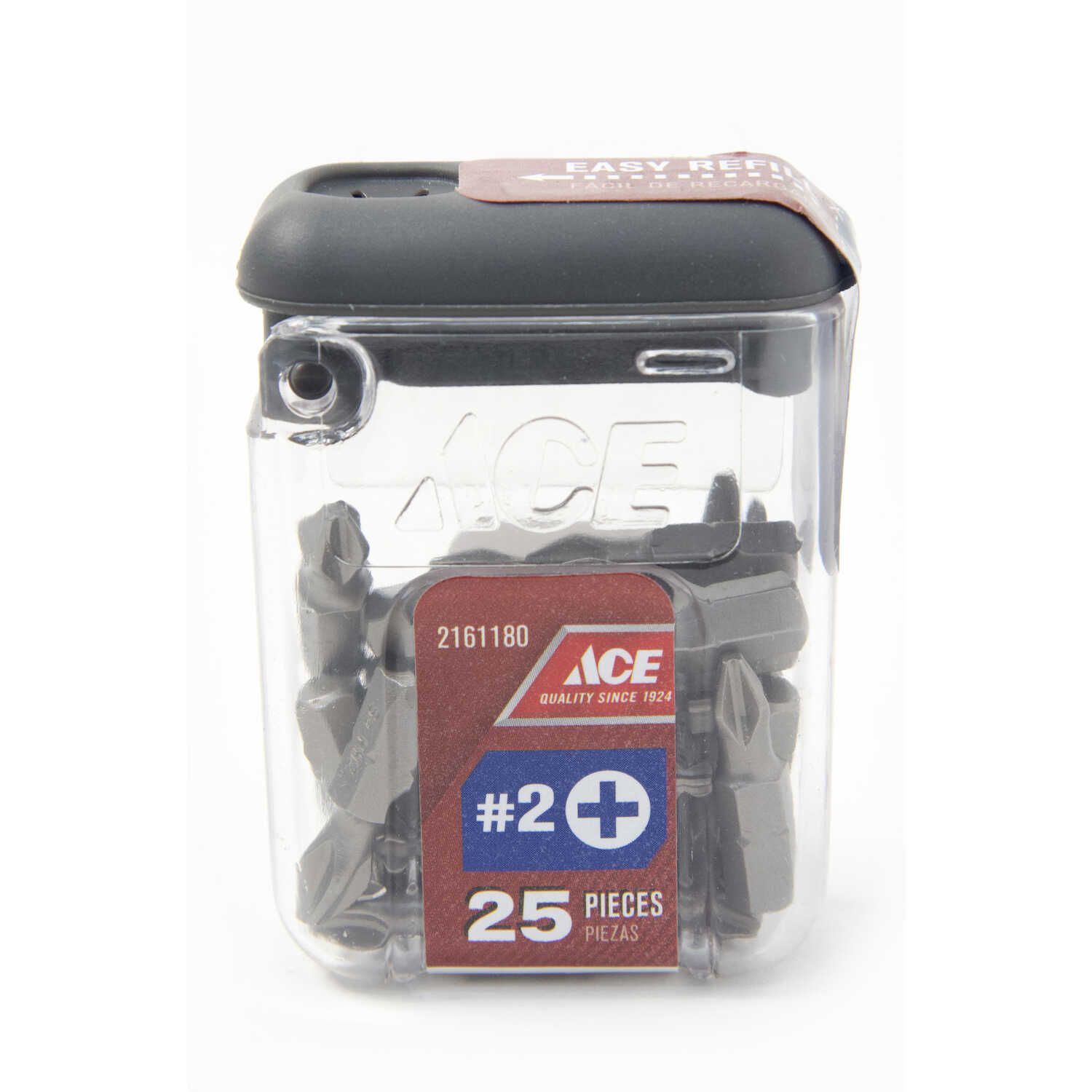 Ace  2   x 1 in. L Phillips  Insert Bit  S2 Tool Steel  Hex Shank  25 pc. 1/4 in.