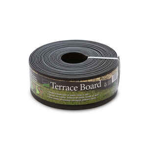 Master Mark  Terrace Board  40 ft. L x 4 in. H Plastic  Black  Lawn Edging