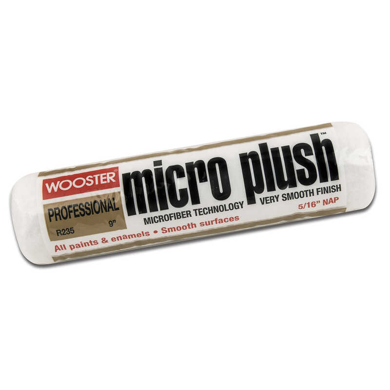 Wooster  Micro Plush  Microfiber  5/16 in.  x 18 in. W Regular  Paint Roller Cover  For Smooth Surfa