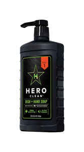 Hero Clean  Juniper Scent Dish and Hand Soap  22 oz