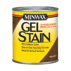 Minwax  Wood Finish  Transparent  Low Luster  Walnut  Oil-Based  Gel Stain  1 qt.