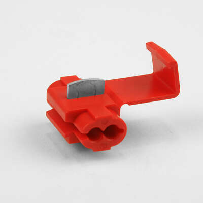 Jandorf 18-14 Ga. Insulated Wire Terminal Self-Stripping Red 2 pk