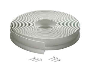 M-D Building Products  White  Vinyl  Weather Stripping  For Garage Door 30 ft. L x 1 in.