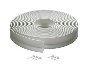 M-D Building Products  White  Vinyl  Weather Stripping  1 in.  x 30 ft. L For Garage Door