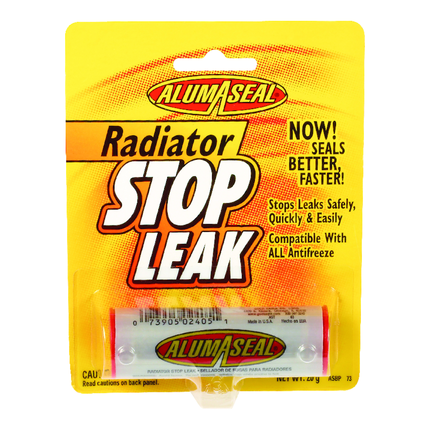 Alumaseal  Stop Leak Radiator Sealer  For Aluminum 0.7 oz. For Metal
