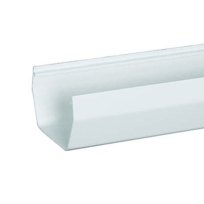 Amerimax  4 in. H x 5 in. W x 120 in. L White  Vinyl  Contemporary  Gutter