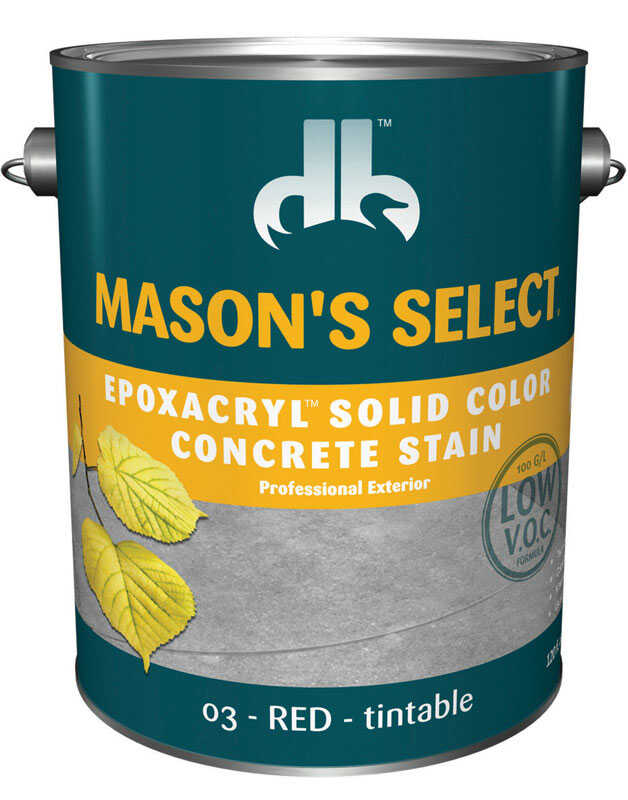 Mason's Select  Solid  Red  Base 3  Epoxy and Acrlyic Latex  Epoxacryl Concrete Stain  1 gal.