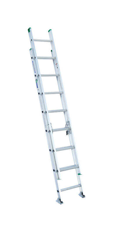 Werner  16 ft. H x 17.33 in. W Aluminum  Extension Ladder  Type II  225 lb.