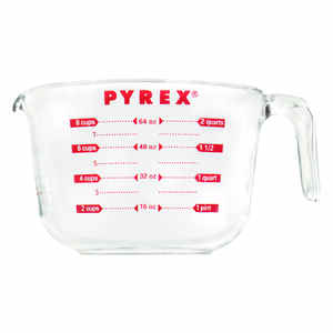 Pyrex  8  Glass  Clear  Measure Batter Bowl