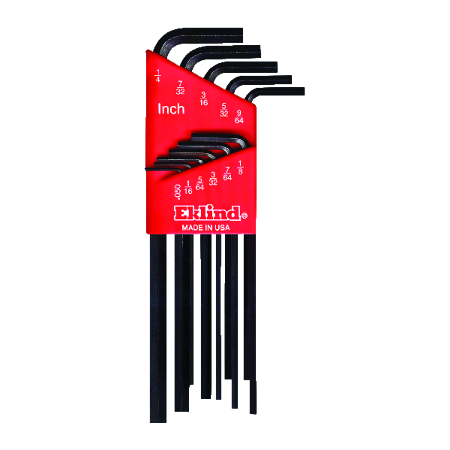 Eklind Tool  .050 to 1/4  SAE  Long Arm  Hex L-Key Set  Multi-Size in. 11 pc.