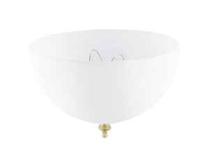 Westinghouse  Dome  White  Acrylic  Lamp Shade  1 pk